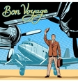 Businessman meets or accompanies departure vector image vector image