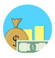 capital money icon vector image vector image