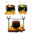 Cauldron set vector image