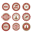 Christmas Badges vector image vector image