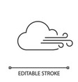 cloudy windy weather linear icon vector image vector image