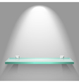 Color empty glass shelf on the wall vector image vector image