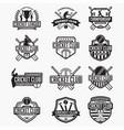 cricket logo badge vector image vector image