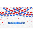croatia garland flag with confetti on transparent vector image vector image