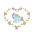 cute blue unicorn in cartoon style cute blue vector image vector image