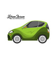 cute of city car design green series vector image vector image