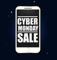cyber monday shop vector image