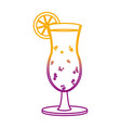 degraded line delicious cold beverage glass vector image vector image