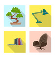 design furniture and work icon set of vector image vector image