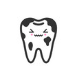dirty spoted tooth with emotional face cute vector image