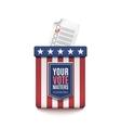 Election ballot box vector image vector image