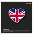 england flag design vector image