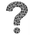 faq shape of person icons vector image vector image
