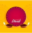 festival greeting design for diwali vector image