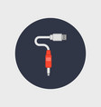 flat usb cable icon for web vector image