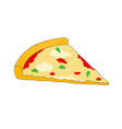 fresh unhealthy slice pizza icon vector image