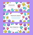 gem collection - set line design style web vector image