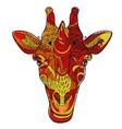 Giraffe head doodle vector image vector image