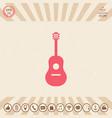 Guitar symbol icon