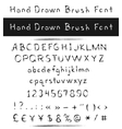 Hand drawn brush font vector image