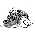 head of asian dragon vector image