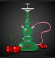 hookah and cherry vector image vector image