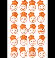 icons set 20 chef orange half vector image