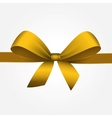 Isolated Yellow Gift Bow with Ribbon vector image