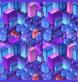 isometric violet purple vector image vector image