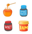 jam icon set cartoon style vector image
