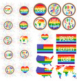 lgbt rights symbols gay parade slogan vector image