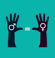 male female equality vector image