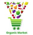 MarketOrganic vector image vector image
