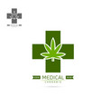 medical cannabis emblems label logo set template vector image vector image
