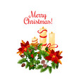 merry christmas holiday wish greeting icon vector image vector image