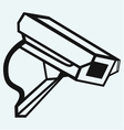 Outdoor surveillance camera vector image