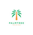 palm tree logo design template vector image vector image