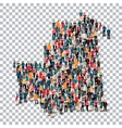people map country Mauritania vector image vector image