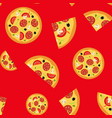 pizza food seamless pattern background eps10 vector image