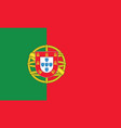 portugal flag official colors and proportion vector image