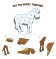 Puzzle game for children horse vector image vector image