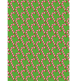 seamless christmas pattern with candy cane stick vector image