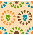 seamless pattern of skulls vector image