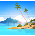 seaside landscape summer tropical beach with palm vector image