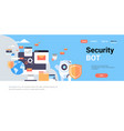 security protection bot shield database protection vector image vector image