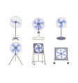 set industrial fans vector image