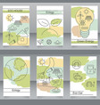 set of brochures and flyers in eco style vector image