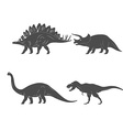 Set of Dinosaurs isolated on white background vector image