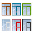 set of doors and windows vector image vector image
