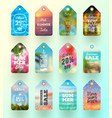 set summer sale tags or labels vector image vector image